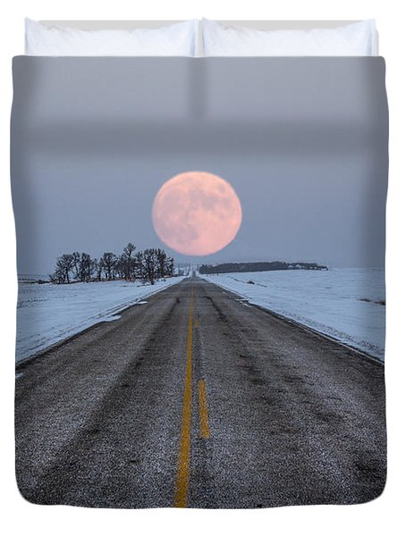 Highway To The Moon Duvet Cover