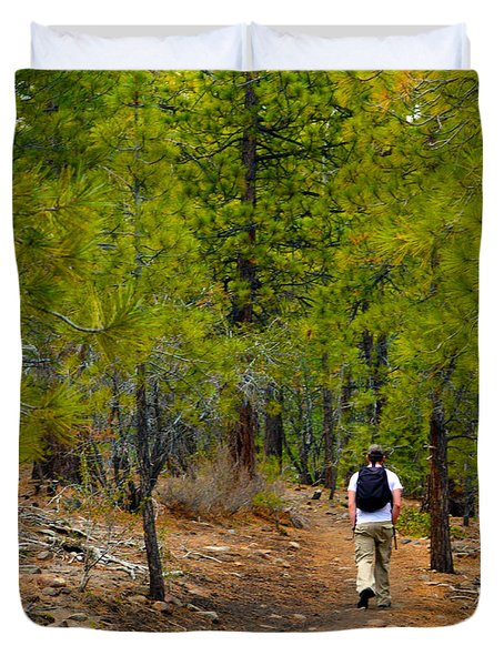 Hike On 2 Duvet Cover by Brent Dolliver