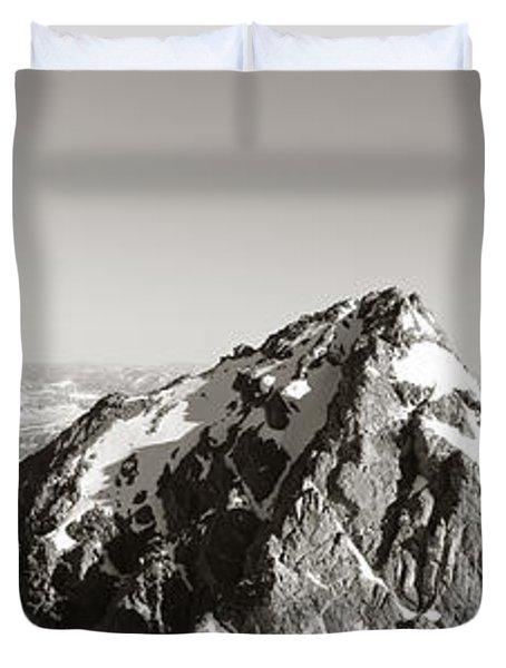 Hiker, Grand Teton Park, Wyoming, Usa Duvet Cover