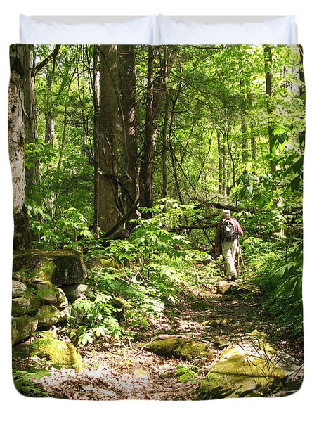 Hiking Off Trail Duvet Cover by Melinda Fawver