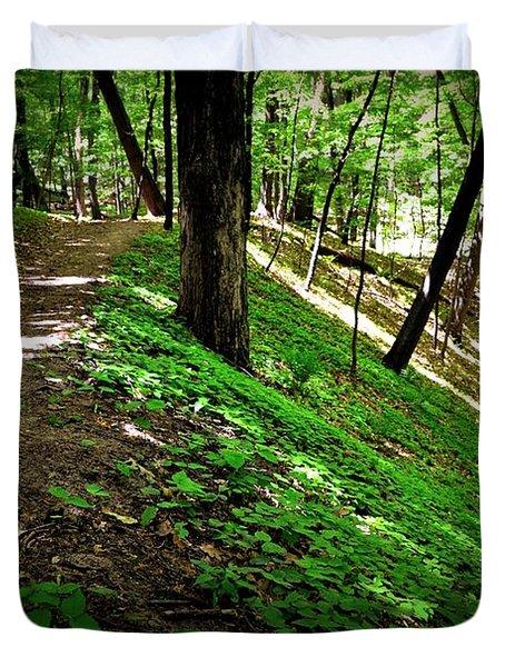 Hiking The Ridge Duvet Cover