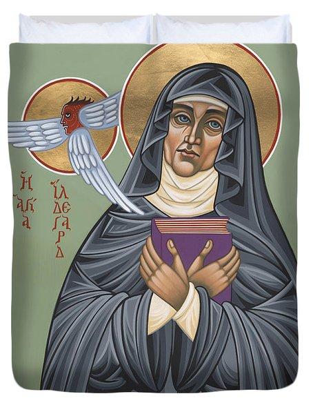 St. Hildegard Of Bingen 171 Duvet Cover