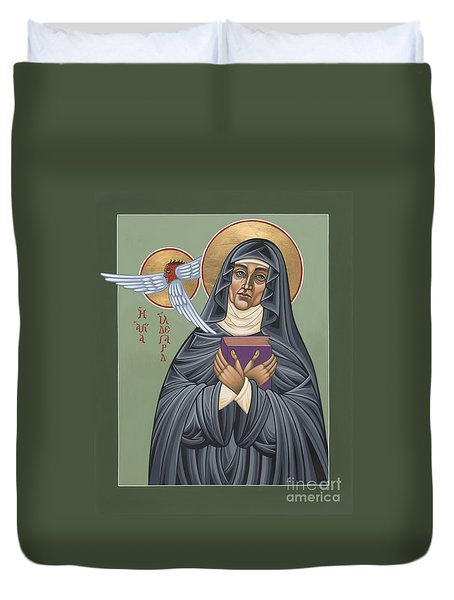 Duvet Cover featuring the painting St. Hildegard Of Bingen 171 by William Hart McNichols