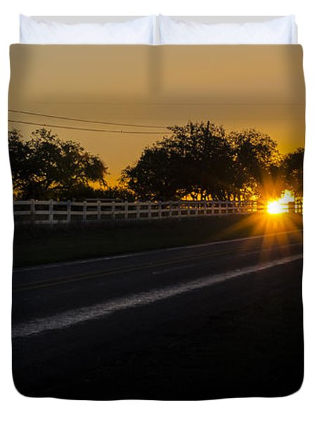 Hill Country Sunrise 2 Duvet Cover