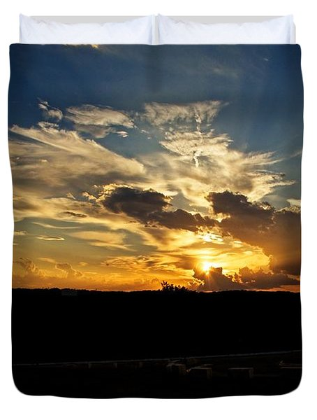 Hill Country Sunset Duvet Cover