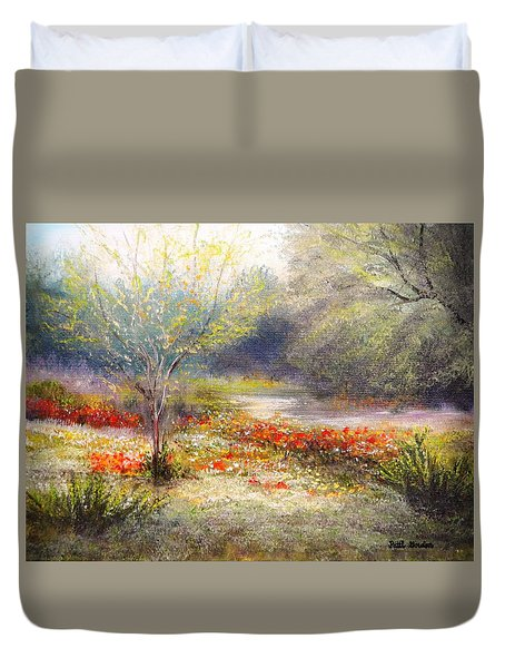 Hill Country Wildflowers Duvet Cover