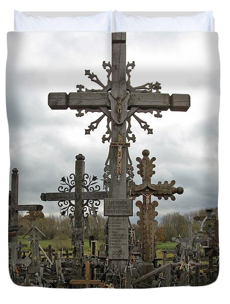 Hill Of Crosses 06. Lithuania.  Duvet Cover