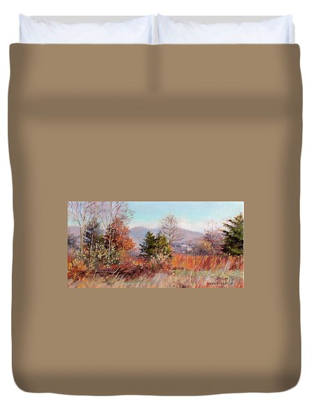 Hill Top View- In Autumn Duvet Cover