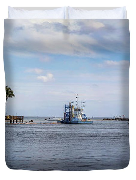Hillsboro Inlet Lighthouse Panorama Duvet Cover