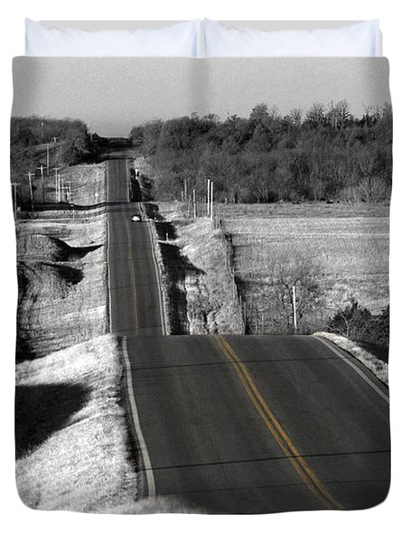 Hilly Ride Duvet Cover by Brian Duram