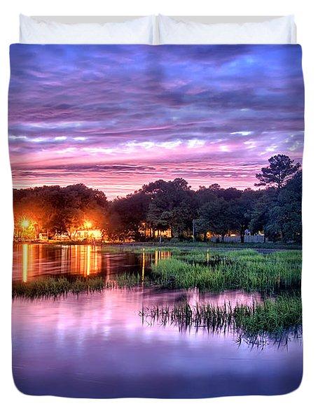 Hilton Head Evening Marsh Duvet Cover
