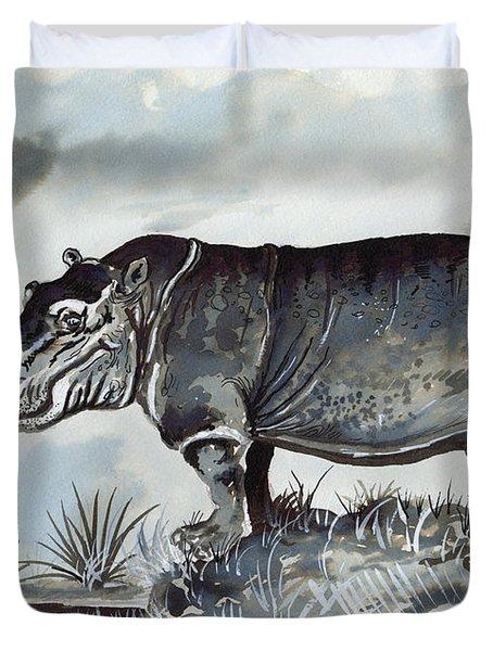 Hippo Duvet Cover by Anthony Mwangi