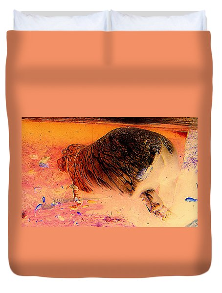 Duvet Cover featuring the photograph Hippo Elegance by Antonia Citrino