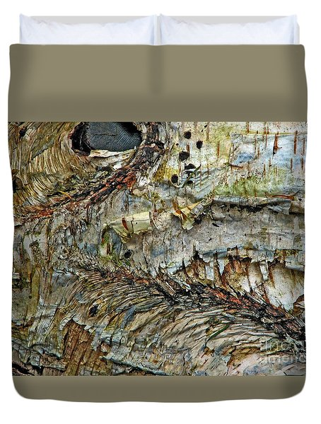 Duvet Cover featuring the photograph His Bark Is Worse Than His Bite by Chris Anderson