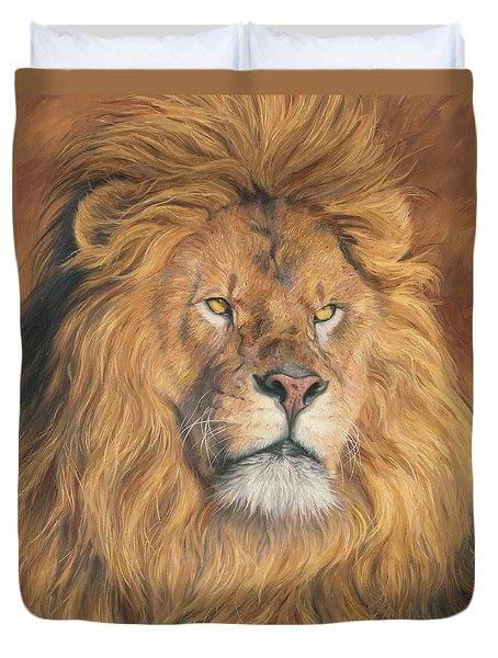 His Majesty - Detail Duvet Cover by Lucie Bilodeau