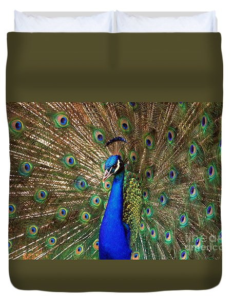 Duvet Cover featuring the photograph His Majesty by Geraldine DeBoer