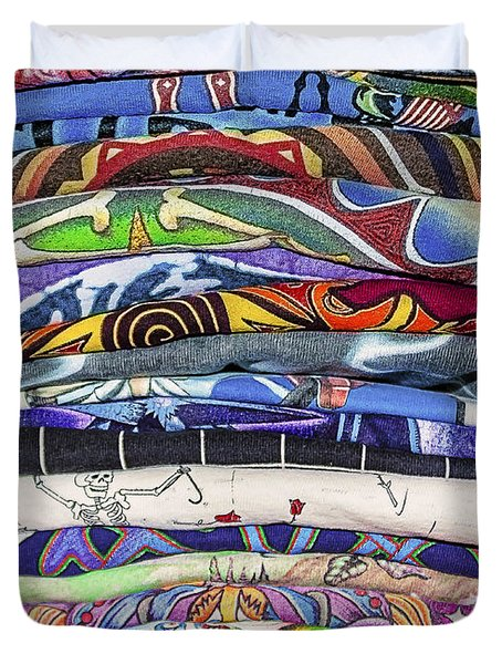 His Tshirt Collection Duvet Cover by Janice Rae Pariza