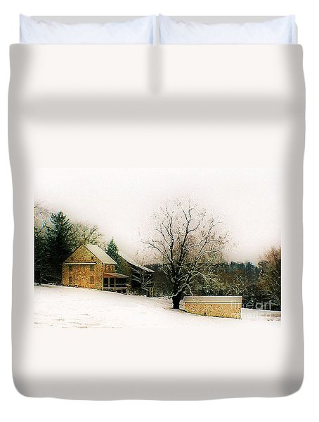Historic 1700's Farmhouse Duvet Cover by Polly Peacock
