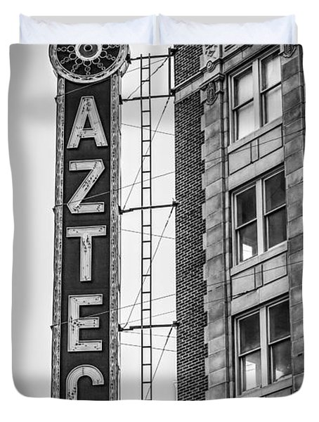 Historic Aztec Theater Duvet Cover