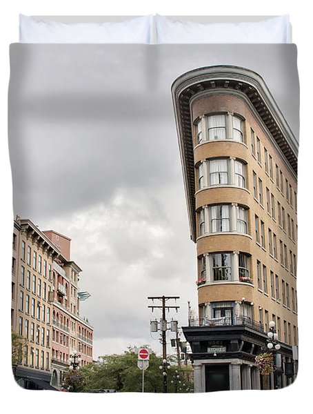 Historic Buildings In Gastown Vancouver Bc Duvet Cover by David Gn