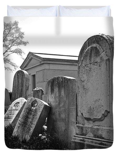 Historic Cemetery Duvet Cover by Jennifer Ancker
