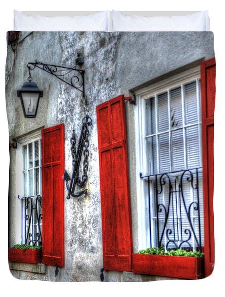 Historic Charleston Pirates House Duvet Cover