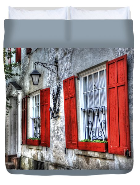 Historic Charleston Pirates House Duvet Cover