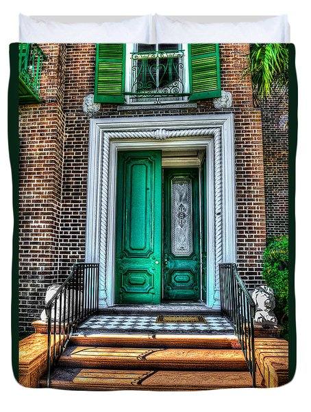 Historic Charleston Sc Door Duvet Cover