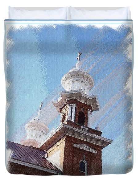 Historic Church Steeples Duvet Cover