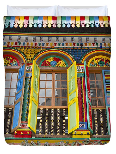 Historic Colorful Peranakan House Duvet Cover by David Gn