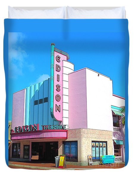 Deco Historic Edison Theater. Ft. Myers. Florida. Duvet Cover