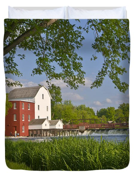 Historic Flour Mill By A River Duvet Cover