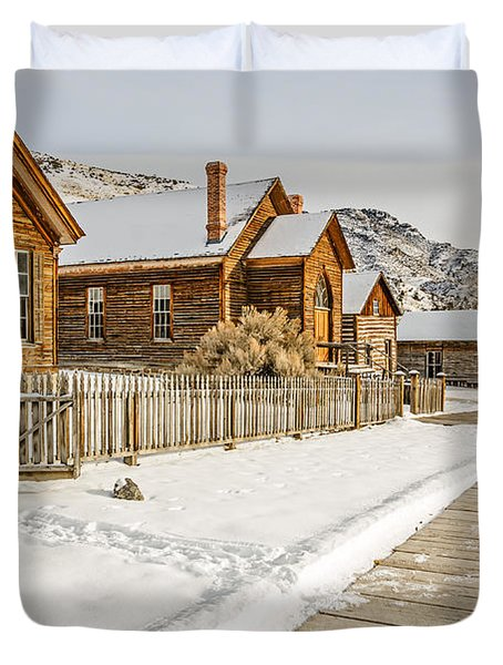 Historic Ghost Town Duvet Cover
