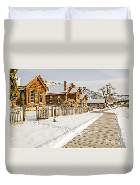 Historic Ghost Town Duvet Cover by Sue Smith
