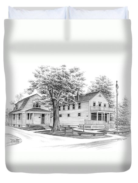 Historic Jaite Mill - Cuyahoga Valley National Park Duvet Cover by Kelli Swan