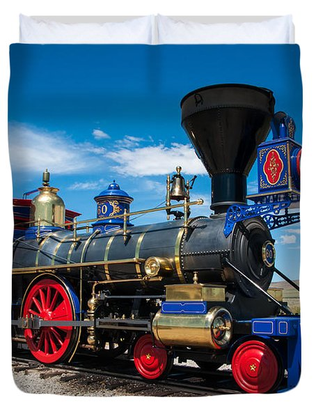 Historic Jupiter Steam Locomotive - Promontory Point Duvet Cover