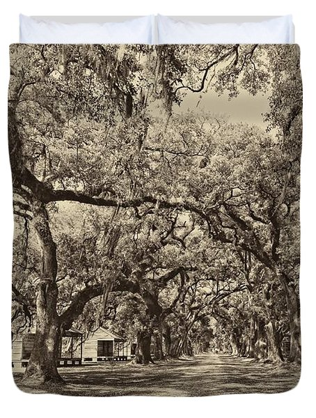 Historic Lane Antique Sepia Duvet Cover by Steve Harrington