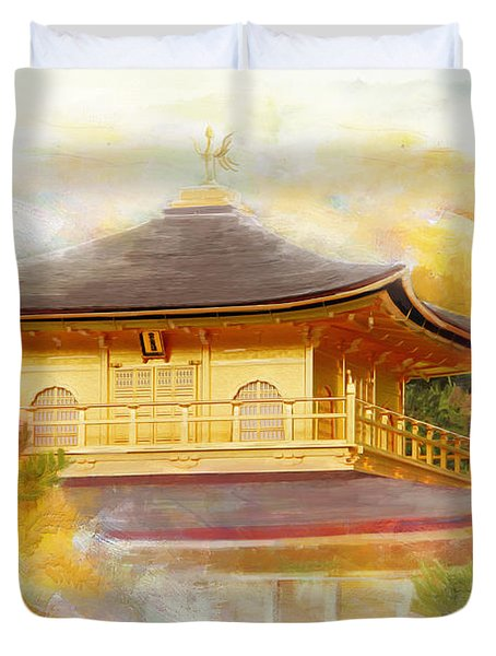 Historic Monuments Of Ancient Kyoto  Uji And Otsu Cities Duvet Cover by Catf