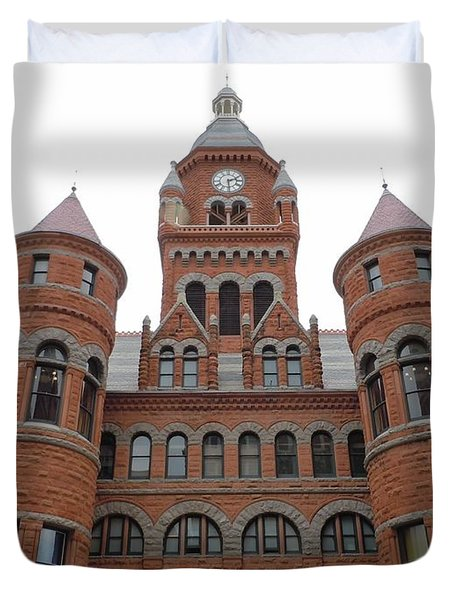 Duvet Cover featuring the photograph Historic Old Red Courthouse Dallas #1 by Robert ONeil