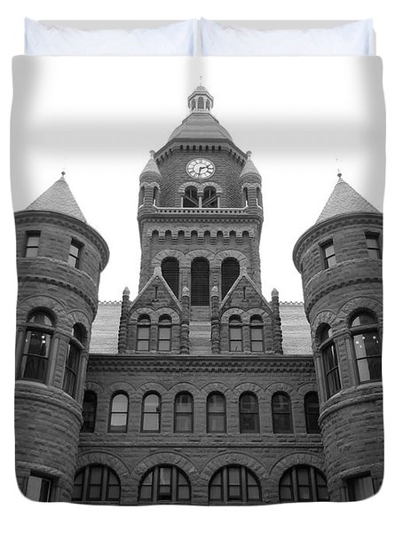 Duvet Cover featuring the photograph Historic Old Red Courthouse Dallas #2 by Robert ONeil