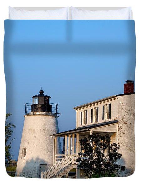 Historic Piney Point Lighthouse Duvet Cover