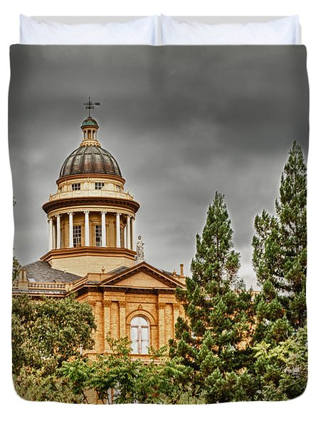 Duvet Cover featuring the photograph Historic Placer County Courthouse by Jim Thompson
