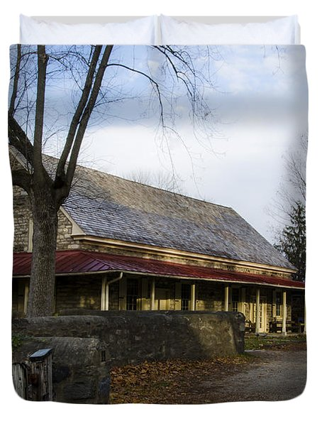 Historic Plymouth Meeting Friends Duvet Cover by Bill Cannon