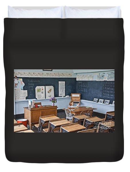 Historic School Classroom Art Prints Duvet Cover