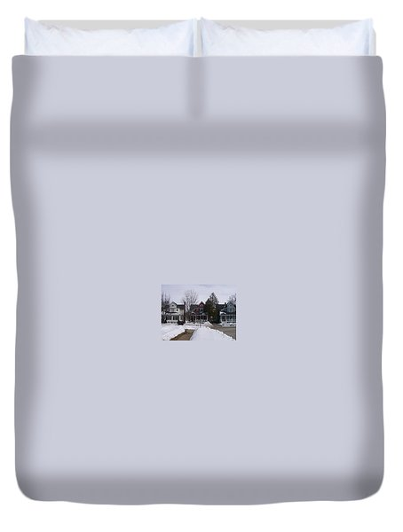 Duvet Cover featuring the photograph Historic Seventh Street Menominee by Jonathon Hansen