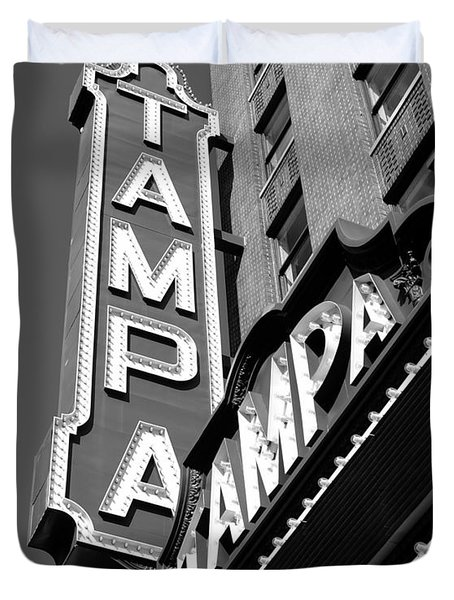Historic Tampa Duvet Cover