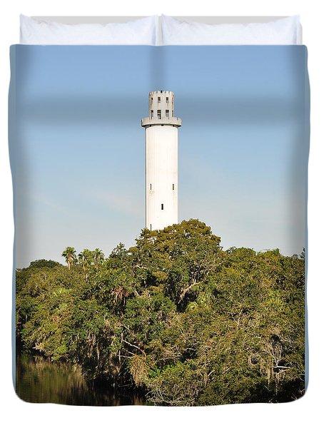 Historic Water Tower - Sulphur Springs Florida Duvet Cover