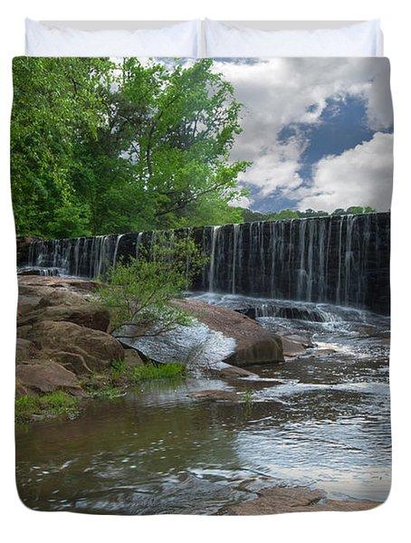Historic Yates Mill Dam - Raleigh N C Duvet Cover