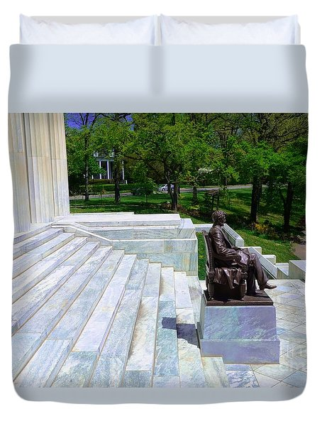 Historical Museum Building Of Buffalo Duvet Cover by Kathleen Struckle