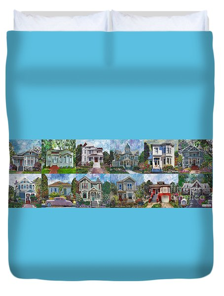 Historical Homes Duvet Cover by Linda Weinstock